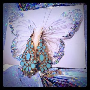 Butterfly clip and earring set